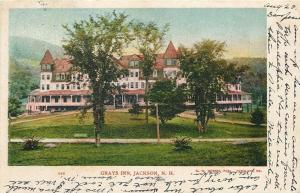 Jackson New Hampshire~Trees @ Triangle Grounds Edge~Grays Inn~1906 Postcard
