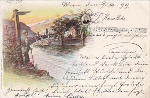 Austria Song Card Hamkehr 1899