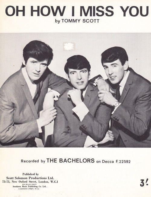 Oh How I Miss You Tommy Scott 1960s Sheet Music