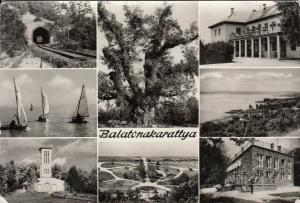 Hungary Balatonakarattya multi views photo postcard