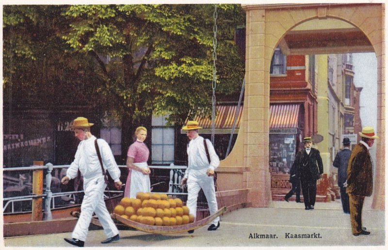 ALKMAAR, Noord-Holland, Netherlands, 1900-1910s; Kaasmarkt