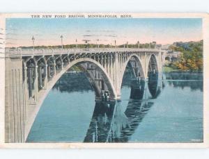 W-Border BRIDGE SCENE Minneapolis Minnesota MN d4897