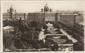 Wien Volksgarden und Museen Austria