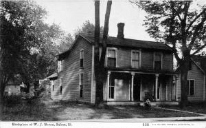 Salem Illinois~W J Bryan Birthplace~Person Sitting on Steps~c1910 CU Williams Pc