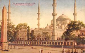 Turkey Old Vintage Antique Post Card Mosque of Sultan Ahmid Constantinople 1910
