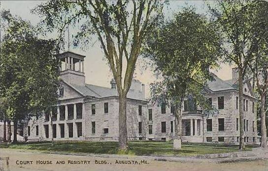 Maine Augusta Court House And Registry Bldg