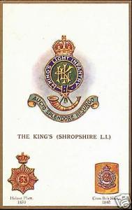 UK Military Badges, King's Shropshire Light Inf. 1910s