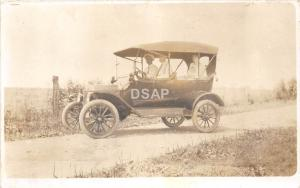 A33/ Early Automobile Car Postcard Real Photo RPPC c1910 Man Driving 1