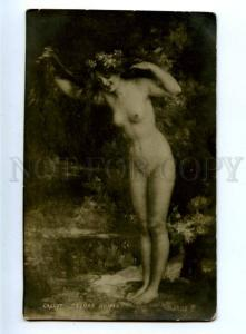 162022 NUDE Nymph Forest LONG HAIR by CALLOT vintage PC