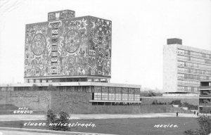 RPPC Ciudad Universitaria, Mexico City Foto Gamboa 1957 Vintage Postcard