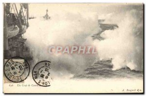 Old Postcard Boat a cannon of 14 cm
