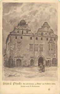 Czech Republic Stara PLZEN Kresba arch B. Hochmana