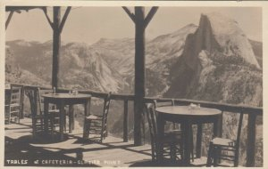 RP: YOSEMITE , California , 1910s ; Tables at Cafe , Glacier Point