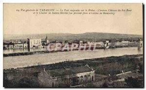 Old Postcard General view of Tarascon Suspension Bridge on the Phone the old ...