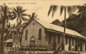 PC CPA PAPUA NEW GUINEA, KERKJE TE WAIMA, Vintage Postcard (b19778)