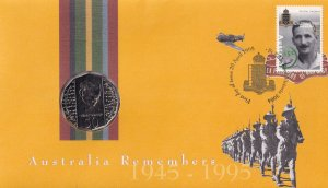 Australia Remembers WW2 Coin Military FDC MINT NEW
