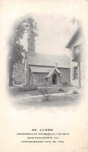 Dowingtown Pennsylvania St James Protestant Episcopal Church Postcard JE228334