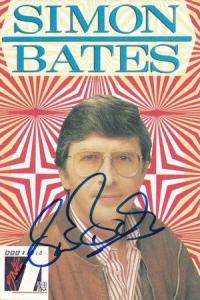 Simon Bates Radio 1 DJ Hand Signed Cast Card Photo