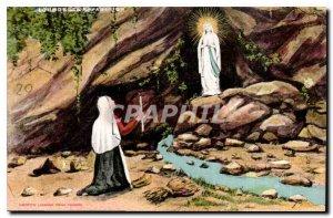 Old Postcard Lourdes the Appirilion