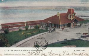 G.T. R. Train Depot, Barrie, Ontario, Canada, 1905