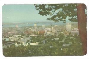 View from Mont Royal of Montreal, Quebec, Canada, 40-60s