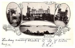 Maine  South Freeport , Casco Castle  , Suspension Bridge , South Entrance , ...