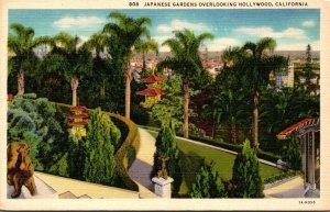 California Hollywood Japanese Gardens 1939 Curteich