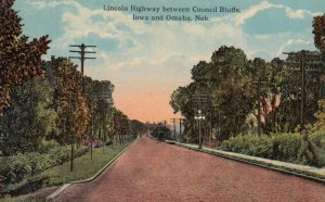 LINCOLN HIGHWAY between Council Bluffs , Iowa & Omaha , Nebraska , 00-10s