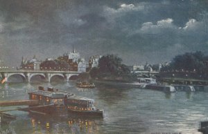 PARIS, France , 00-10s ; Pont Neuf (At Night) ; TUCK 702 No 8