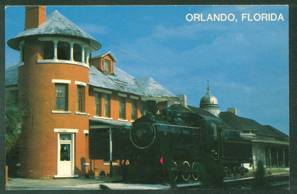 church street station orlando fl locomotive train railroad depot postcard hippostcard church street station orlando fl