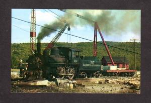 ME Bangor Aroostook Railroad Train Engine Loco 207 Frankfort Maine Postcard