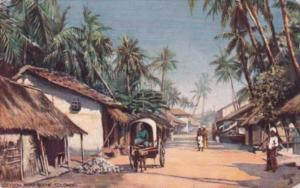 Sri Lanka Ceylon Colombo Road Scene 1909 Tucks