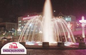 Georgia Atlanta Underground Atlanta Fountain At Night