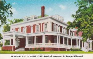 Missouri Saint Joseph Missouri P E O Home 2912 Fredrick Avenue