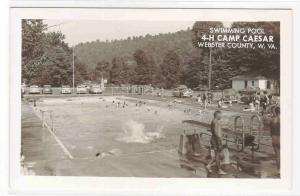 Swimming Pool 4-H Camp Caesar Webster County West Virginia RPPC postcard