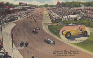 Indiana Indianapolis Motor Speedway Annual 500 Mile Race Curteich sk3556