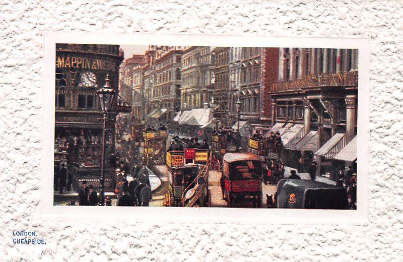Cheapside, London, England, Early Tuck's Postcard with Textured Border