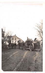 A31/ Clinton Ohio Postcard Portable Steam Sawmill Reprint c1950 Real Photo RPPC