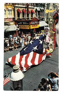 Walt Disney World Bicentennial America Parade Betsy Ross Flag Old Glory Postcard