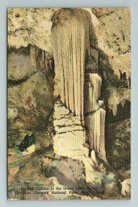 Column Green Lake Carlsbad Caverns National Park Cave New Mexico NM Postcard