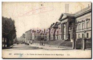 Old Postcard Courthouse and Avenue de la Republique Aurillac