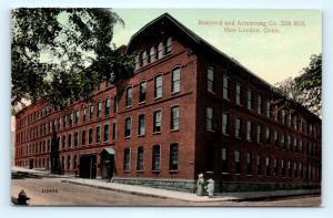 Postcard CT New London Brainerd Armstrong Company Silk Mill Pre 1920s R65