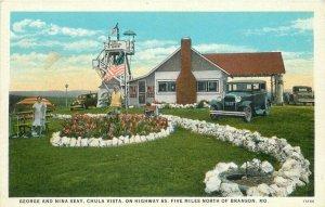 Automobile Seay Chula Vista Branson Missouri 1920s Postcard Teich 12468
