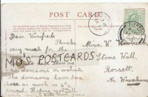 Genealogy Postcard - Woolrich - Stone Hall - Rossett - Near Wrexham - Ref 712B