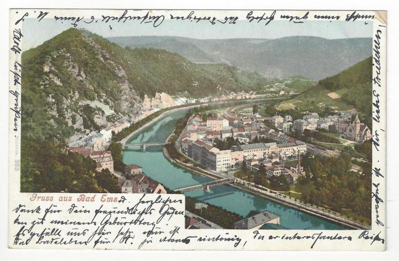 1901 Germany Photo Postcard - Greetings From Bad Ems