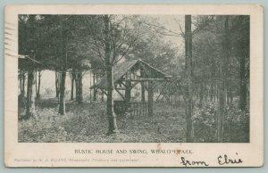 Lunenburg Massachusetts~Whalom Park~Rustic House & Swing~c1904~Postcard