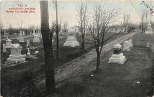 F28/ North Baltimore Ohio Postcard 1909 Maplewood Cemetery