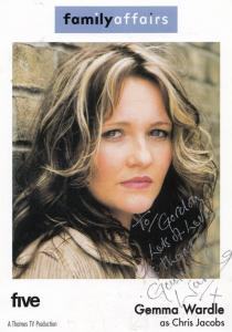 Gemma Wardle as Chris Jacobs in Family Affairs Hand Signed Photo