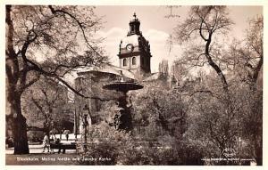 Sweden Old Vintage Antique Post Card Molins fontan och Jacobs Kyrka Stockholm...