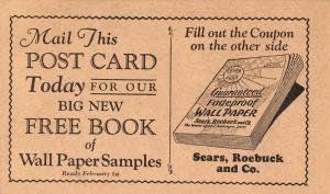 Philadelphia Pennsylvania Sears Roebuck Wallpaper Samples Ad Postcard J80140